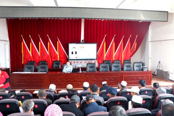 龙8国际新阳光公司在崆峒区大秦乡开展电子商务培训